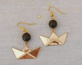 BO - Little Golden boat - Origami and Pearl gray