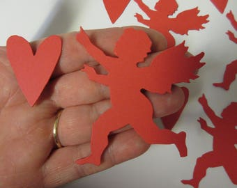 24 Cupid and Heart Die Cuts-Valentine Die Cuts-Valentine Decor