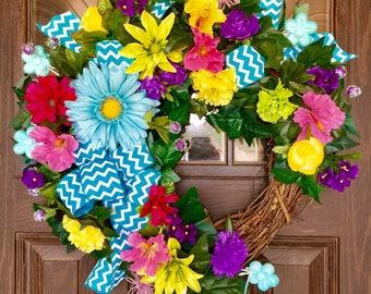Front Door Wreath | Summer Wreath | Grapevine Wreath | Door Wreath | Wreaths on Etsy | Etsy Wreaths