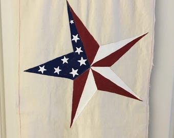 Hand Painted American Flag on Artist Canvas.