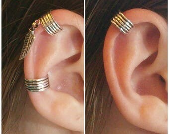 Ear cuff, Ear cuff earring, Ear cuff non pierced, Ear wrap ,Fake ear cuff ,Ear cuff no piercing, Ear cuffs, Silver ear cuff, Ear jacket