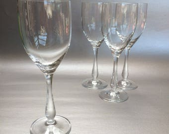 "4 x 8"" Thomas Rosenthal Crystal Wine Glasses Set of 4 German"