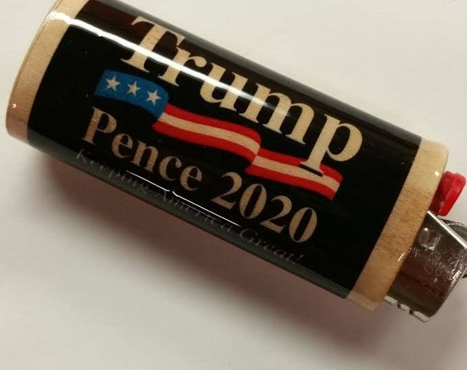 Trump 2020 Lighter Case, Lighter Holder, Lighter Sleeve Cover Keeping America Great