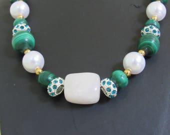 Necklace with semi precious stones