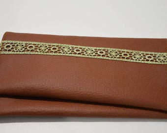 Brown checkbook