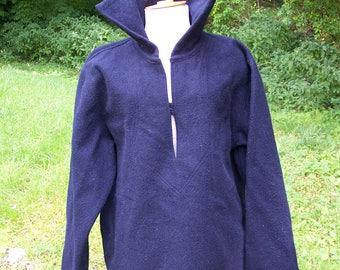 "Seaman's navy-blue wool coat ""Au petit matelot"" Paris vintage Made in France"