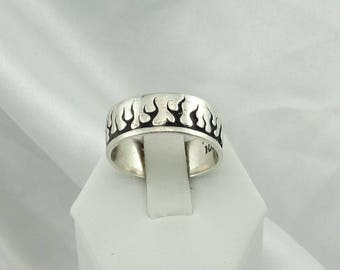 I Fell Into A Burning Ring Of Fire...I Went Down Down Down And The Flames Went Higher!  Sterling Silver Flame Ring   #FLAMES-SR5