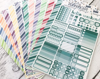 MONTHLY-43 || Sampler Stickers for Planner - EC Monthly Color Scheme (Removable Matte Stickers)