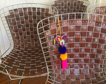 Hand Crafted Leather Bertoia Chairs (Set of 4)