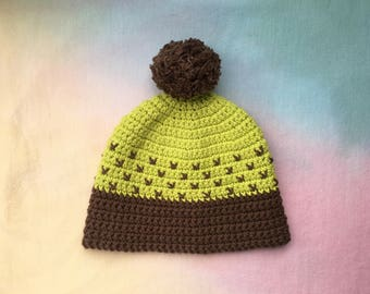 Crocheted vintage style winter beanie!
