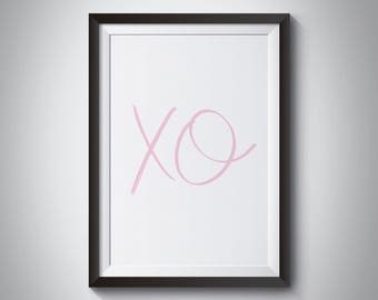 Nursery Wall Art, Girl X O Printable, Digital Download, Blush Pink Printable, Nursery Decor, Girls Nursery Prints, Digital Nursery Printable