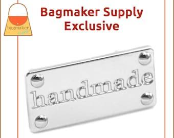 Handmade Purse Embellishment Plate, Shiny Nickel Finish, 1 Set Pack, Handbag Craft Making Hardware Supplies, Bag Bling, EMB-AA001