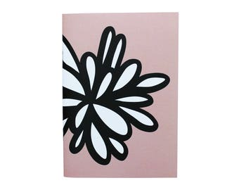 Pink notebook - floral pattern - Organik