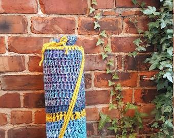 Crochet yoga mat bag