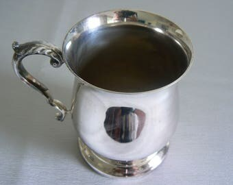 Great Pint Tankard in EPNS - Unusual, Shiny, Collectable and Useful - Perfect!