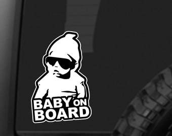 BABY ON BOARD Sticker - car decal