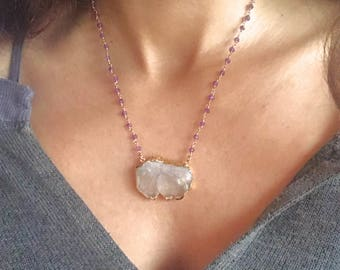 Quartz Necklace // Raw Quartz Necklace // Quartz necklace // Amethyst