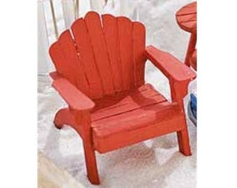 Fairy Garden  - Adirondack Chair - Red - Miniature