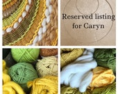 Reserved for Caryn; Custom Extra Large Round Wall Weaving
