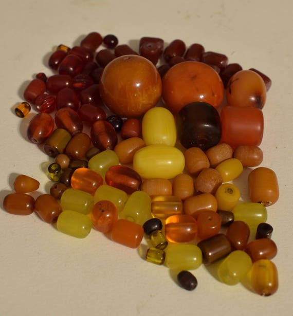 Beads African Copal Amber Resin Amber Assorted Vintage Beads Grab Bag Jewelry Necklace Amber Beads