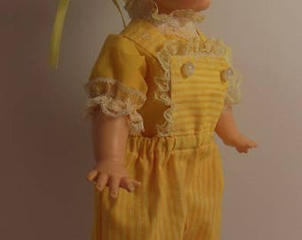 "Yellow Pants Set for 15"" Horsman Ruthie Dolls"