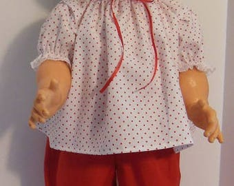 "Red Pants Set for 27"" Horsman Walk A Bye Dolls"