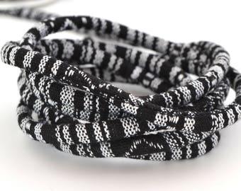 Fabric, black and white diameter 6 mm