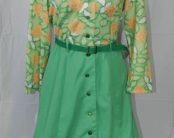 Vintage 60s Kitschy Swing Dress- Size 18 1/2