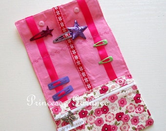 Christmas, birthday * clutch barrettes and elastics pretty cotton floral - in stock