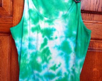 a tie-dye sleeveless tank top shirt