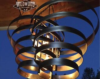 Modern industrial pendant chandelier light