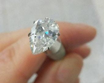 HARRO PEAR Cut Moissanite Loose Gemstones Moissanite Large Sizes Color E F Moissanite Engagement Rings 2 3 4 5 6 7 carat