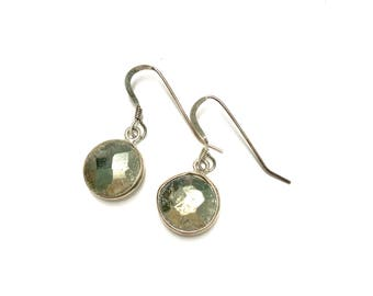 Sterling Silver and Pyrite Earrings