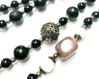 Black Multi-Strand Necklace