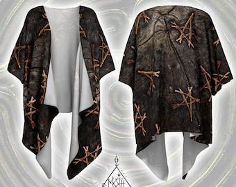 Pentacle Draped Kimono [S/M or L/XL] [Made-to-Order]