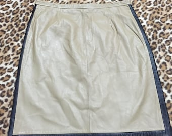 Saks 5th Avenue Leather Skirt