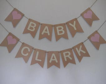Personalised Baby Shower Bunting Banner