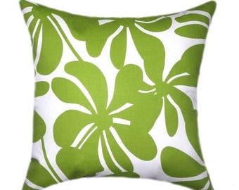 SALE Green Pillows, Christmas Pillow Cover, Decorative Pillow, Green Throw Pillow, Chartreuse Pillow, Green Floral Pillow, Green Cushion Cas