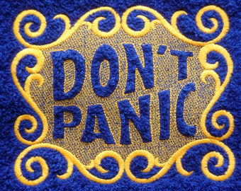 Don't Panic Towel Day. Luxury Range Hand Towel. Douglas Adams, The Hitchhiker's Guide to the Galaxy. Do you know where your towel is?