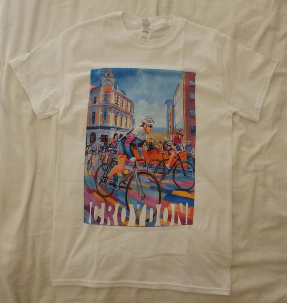 Croydon Cycle Race Printed Tshirt