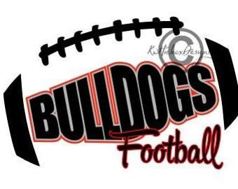 Bulldog Football Svg, Football Svg, Football Dxf