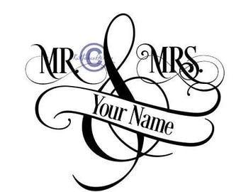 Mr Mrs Split Monogram Svg, Split Monogram Svg, Monogram Svg, Monogram Dxf, Wedding Svg, Mr Mrs Clipart