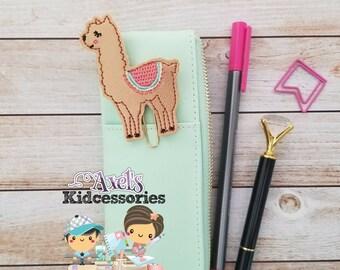 Vinyl Paper Clip Bookmark - Llama  Bookmark -  Paper Clip - Llama Planner Clip - Planner Accessories