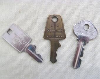 Three Luggage Keys-Samsonite, Slaymaker and Royal Traveller