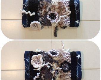 Black Brown Crochet Fidget Sensory Twiddle Muff Dementia Alzheimers Autism