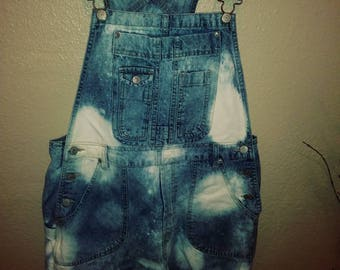 Denim overalls XL bleached in house by Amanda