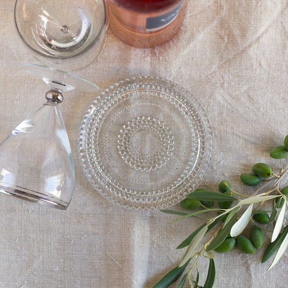 Raindrop French Pressed Glass Wine Coaster