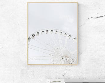 Ferris wheel printable, Ferris wheel Wall art, Home Decor, Wall Decor, Minimalist Art, Scandinavian