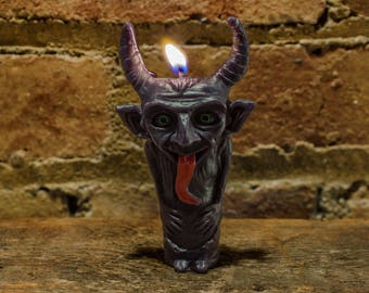 Krampus - Christmas Devil - Magic Krampus Effigy Candle