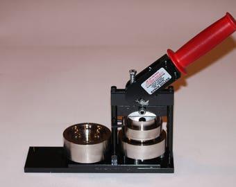 "2.25"" Round Fabric + Paper Round Button Press - Paper and Fabric Button Maker by Tecre #225 2.25"" 2 1/4 Fabric Button Maker Press Machine"